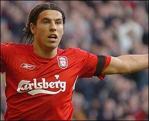 Milan Baros Liverpool Players Liverpool Football Club Liverpool Football
