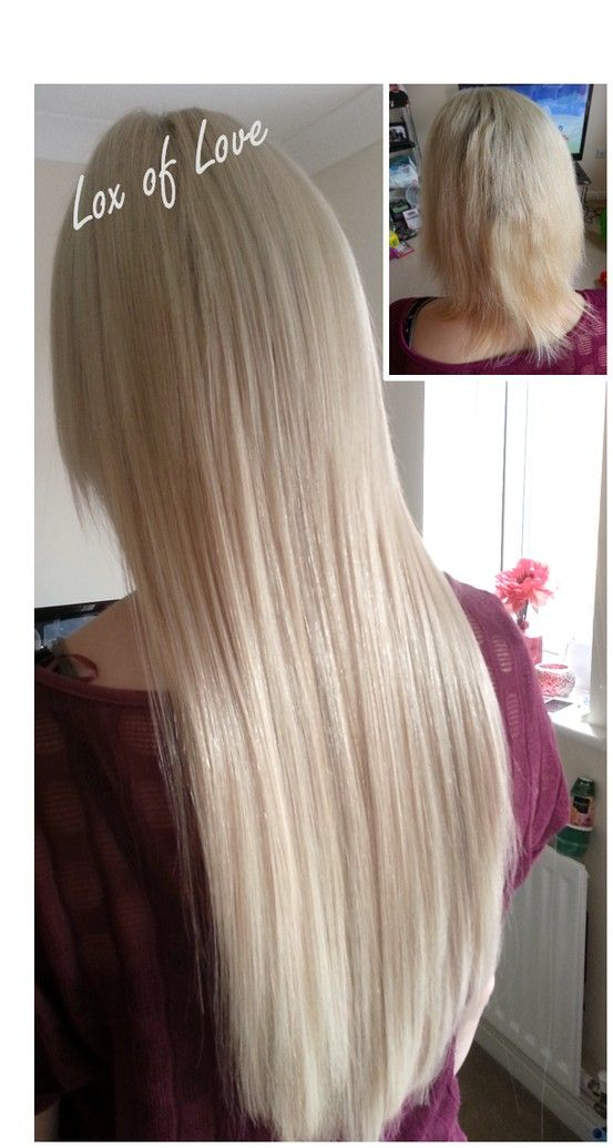 Fabulous Cool Blonde Fusion Bonded Extensions Added To Very Fine
