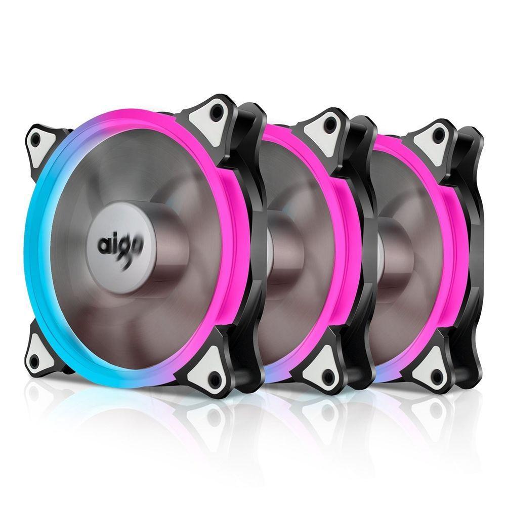 Aigo Aurora C3 Kit Case Fan 3 Pack Rgb Led 120mm High Performance