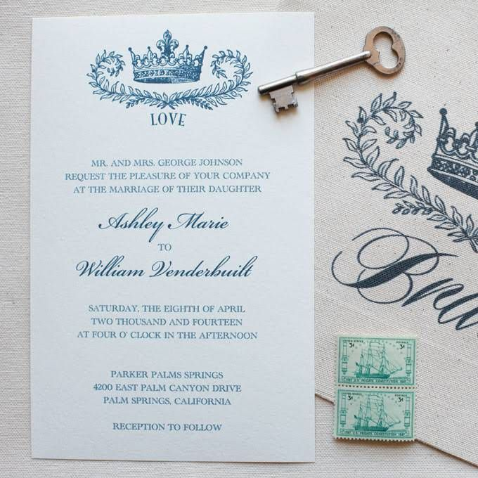 Prince William And Kate Middleton Royal Wedding Invitations My