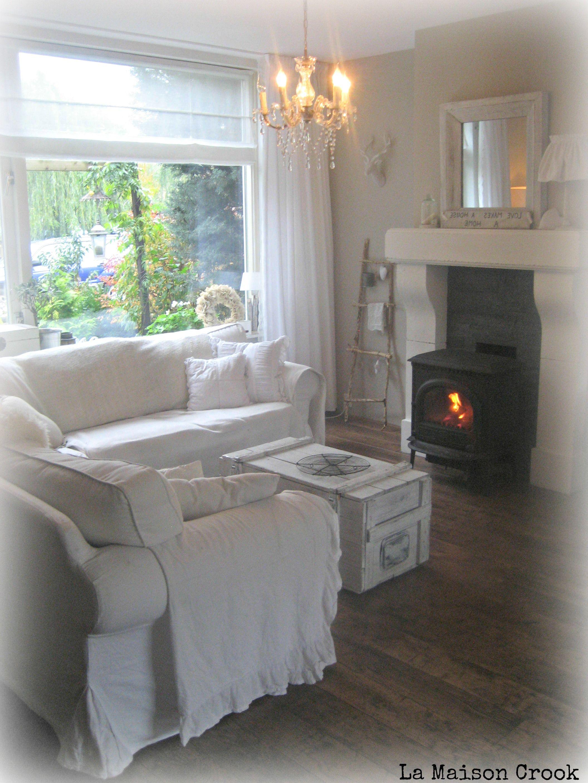 shabby chic country living room / brocante landelijke woonkamer ...