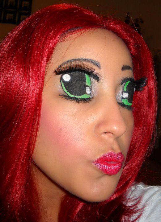 anime makeup, cosplay makeup, halloween makeup, cartoon ...