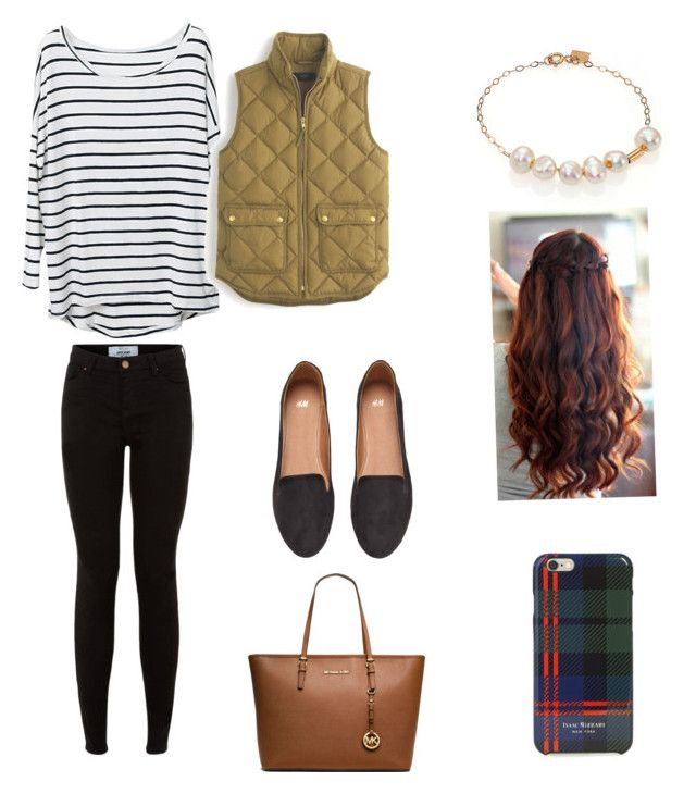 """""""Untitled #210"""" by tristin-2005 ❤ liked on Polyvore featuring J.Crew, Ginette NY, H&M, Isaac Mizrahi and MICHAEL Michael Kors"""