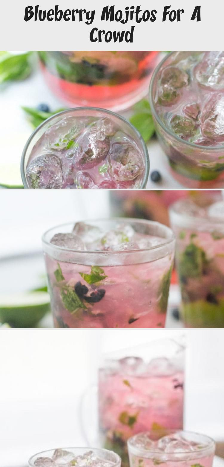 Minty and fruity, light and easy, this larger batch blueberry mojito recipe is the perfect cocktail for spring and summer entertaining! #diycocktailRecipes #diycocktailWedding #diycocktailVodka #diycocktailVideos #diycocktailEasy #blueberrymojito