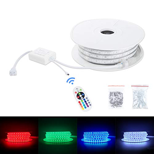 Brillihood Flexible Led Rgb Rope Light Strip Multi Color Changing Smd 5050 Leds 110 120v Ac Dimmable Waterproof Indoor Outdo In 2020 Strip Lighting Rope Light Led