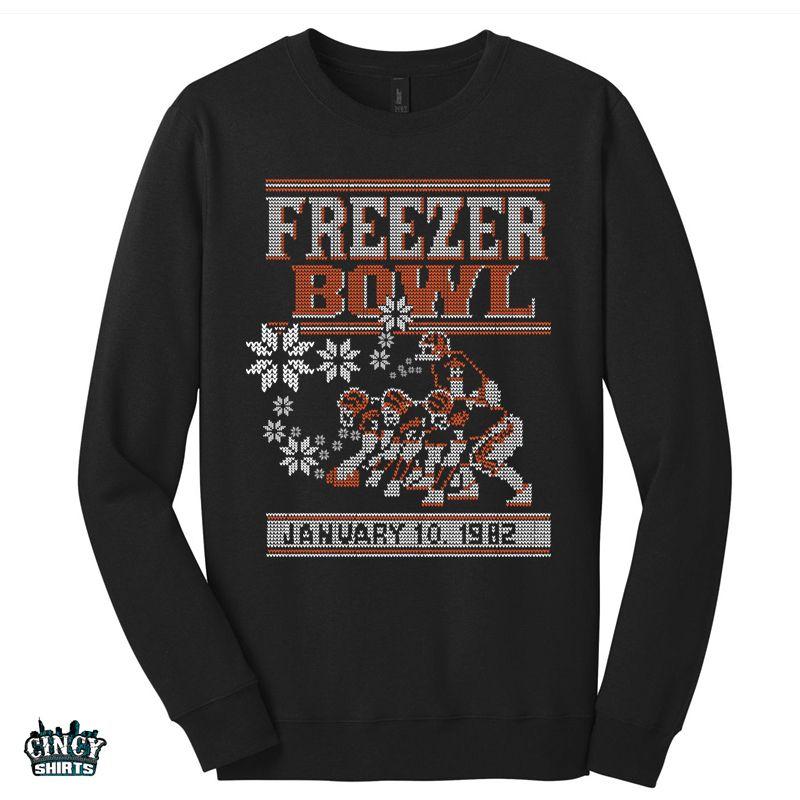 Cincinnati Bengals Who Dey 'Ugly Christmas Sweater' Black Sweatshirt lFrcrz