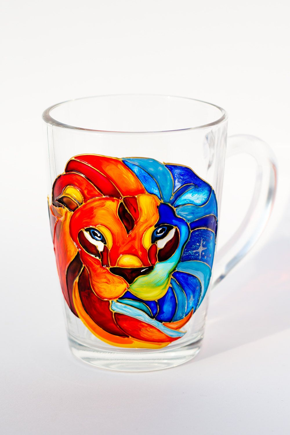 Personalized Lion Mug Leo Astrological Sign Cup Horoscope