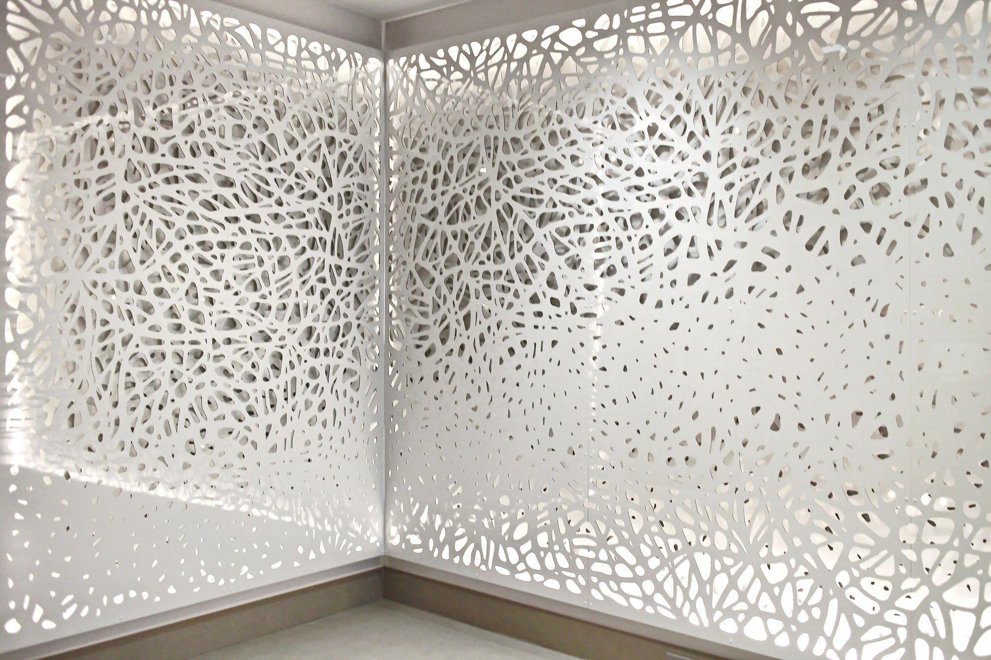Cnc screen wall art with custom lighting modernroomdivider room