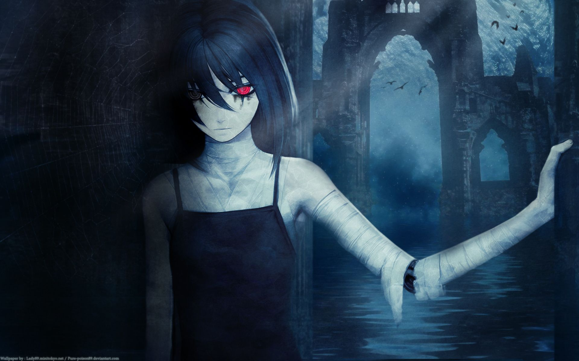 anime unknown girl dark anime wallpaper anime