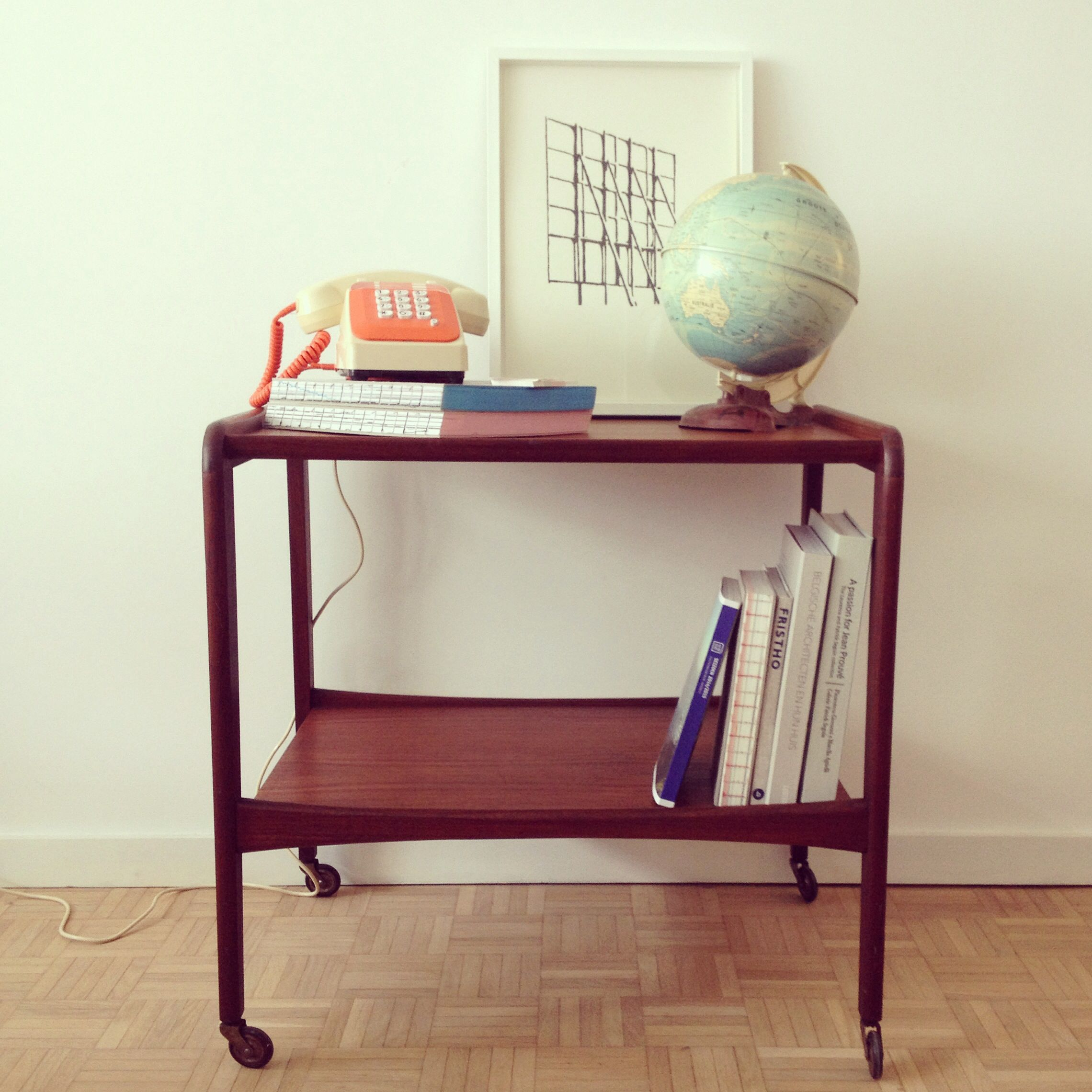 End of hallway ideas  Wooden trolley hallway idea  For the Home  Pinterest  Vintage