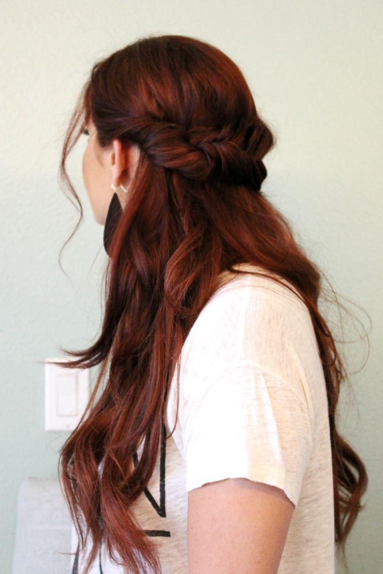 Half up fishtail hair tutorial hair pinterest hair hair