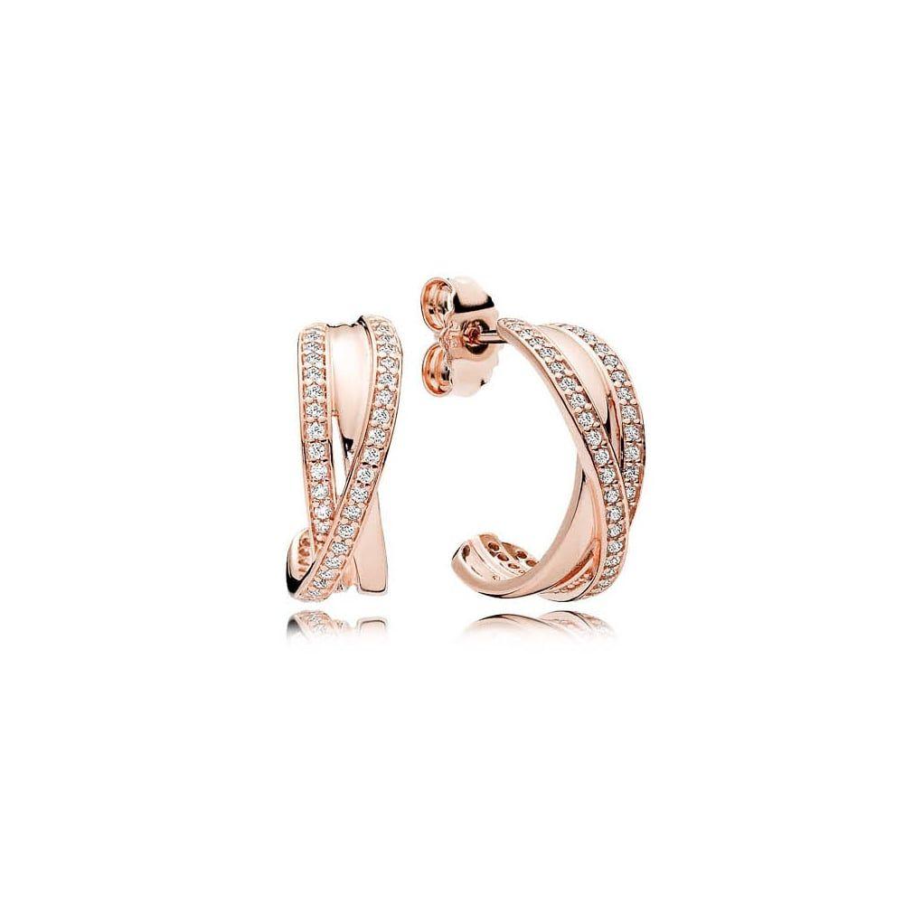 8d4b9b008edfa PANDORA Rose Intertwined Hoop Earrings   Pandora Addict   Pandora ...