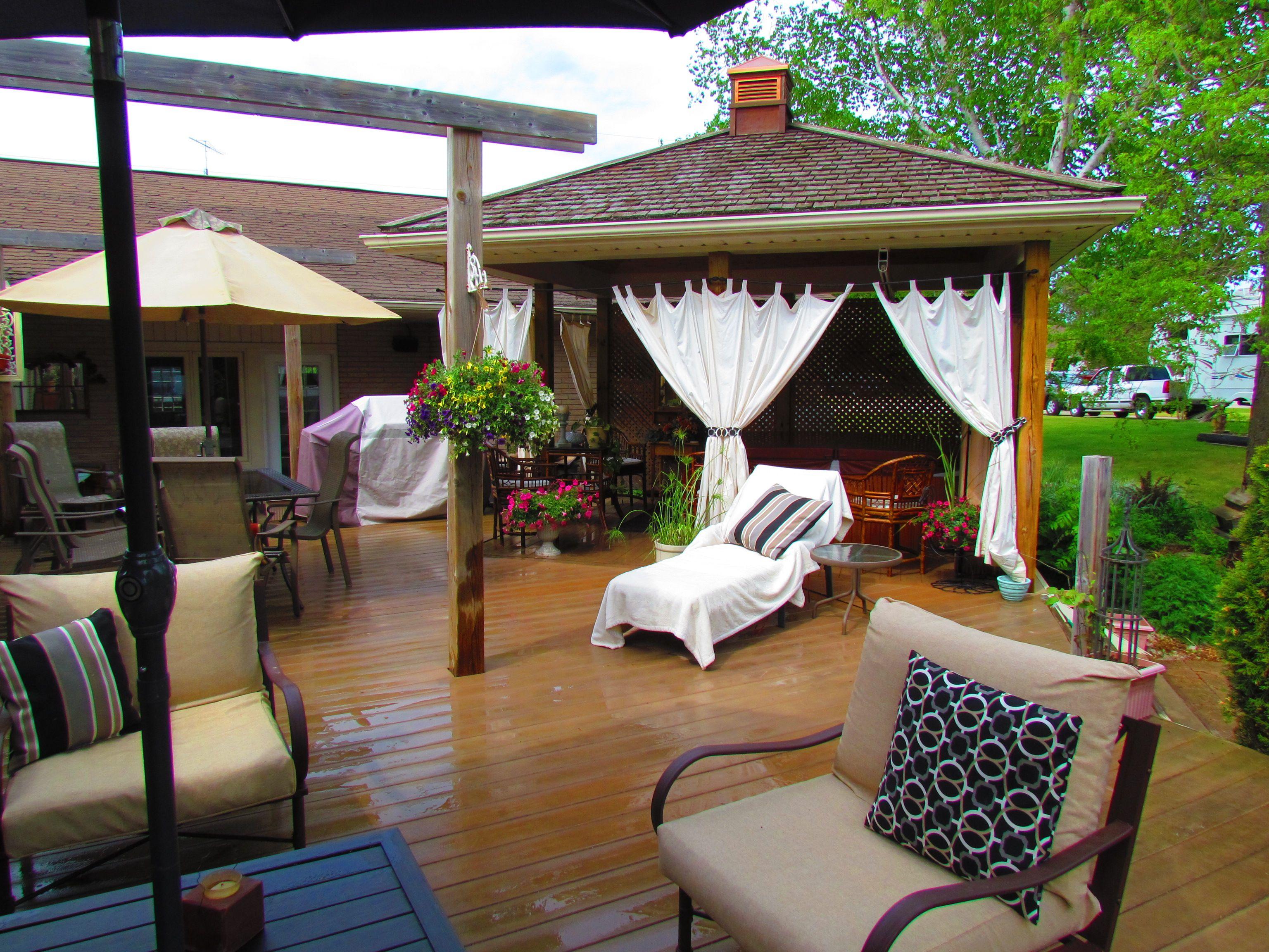 my backyard gazebo with curtains outdoor decor pinterest