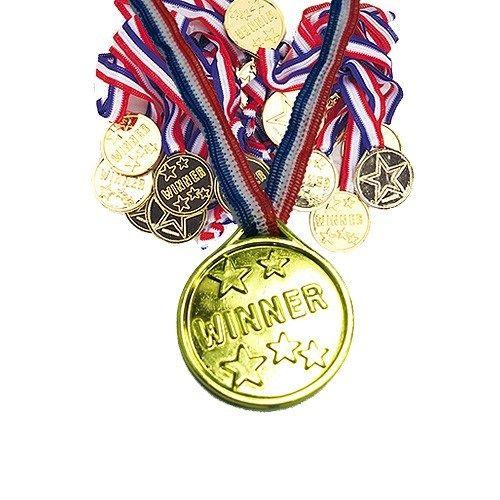 Medaljer er et must efter en hver konkurrence, leg eller skattejagt til børnefødselsdagen! Flotte og ikke mindst billige medaljer fås hos MinTemaFest.dk - 12 medaljer for kun 32 kr. (juli 2016). Winner Medaljer - Pakke med 12 #legetilbørnefødselsdagen #selskabslege #medaljer #vindere #skattejagt