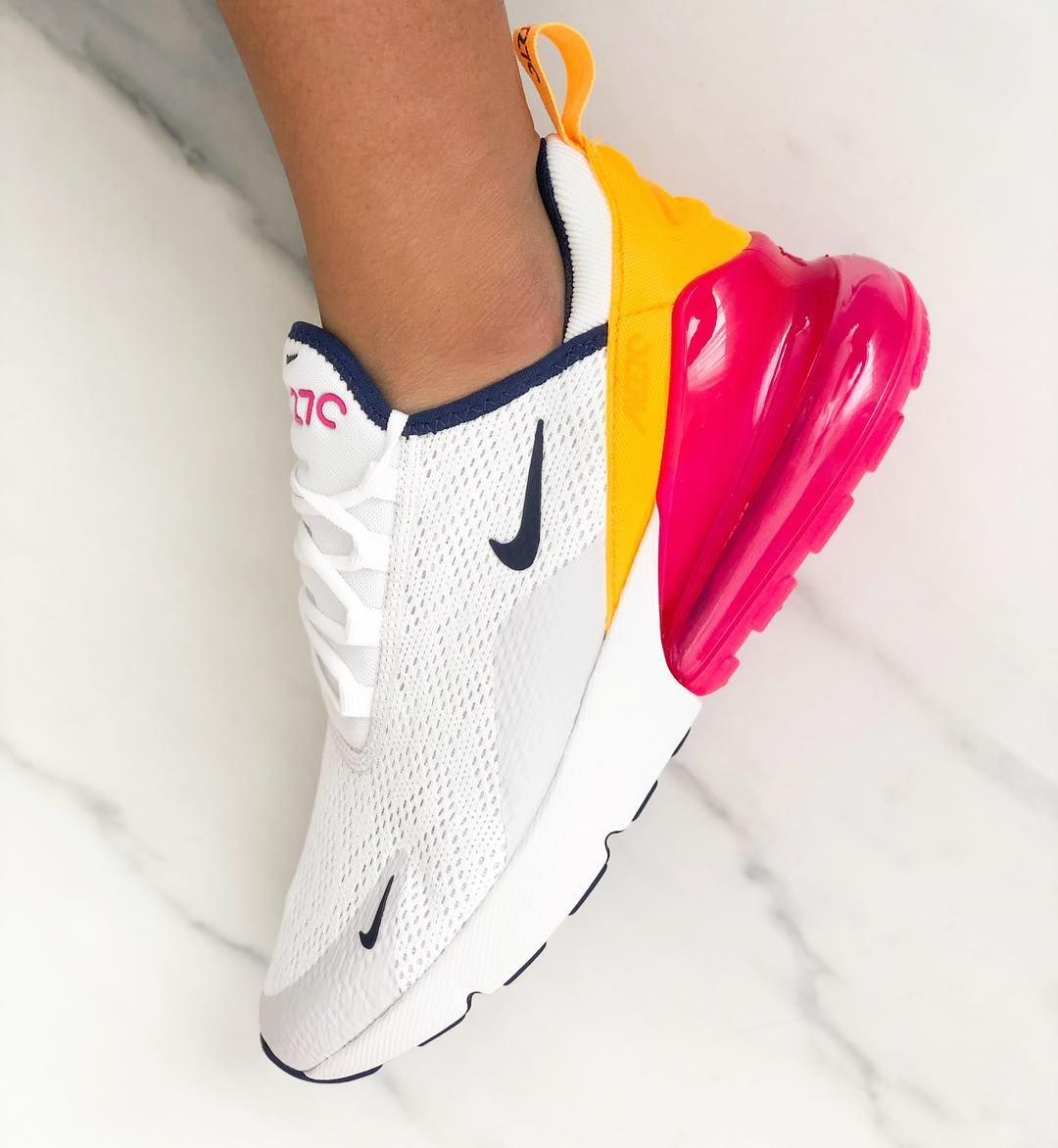 Nike Air Max 270 Shoes White Yellow Red Red Nike Shoes All Red Nike Shoes Red Nike Shoes Womens