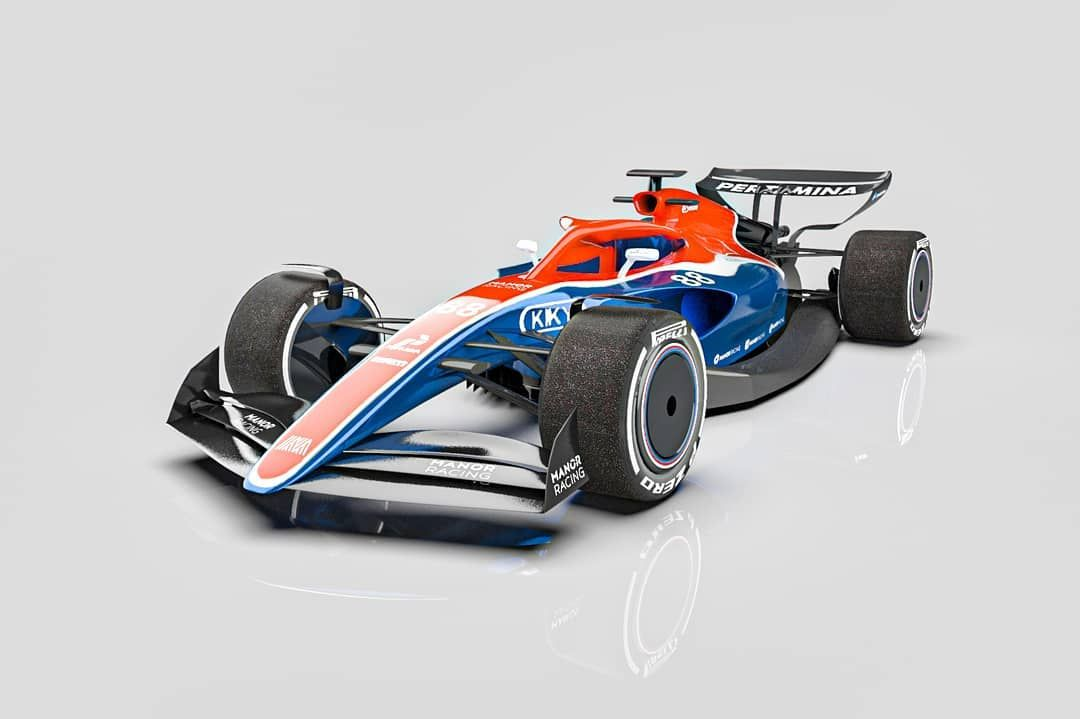 F1 2021 With Manor Racing Livery Hashtags F1 Formula1 Formula1 Formulaone Mercedes Redbull Haas Livery Digitalarts Keyshot