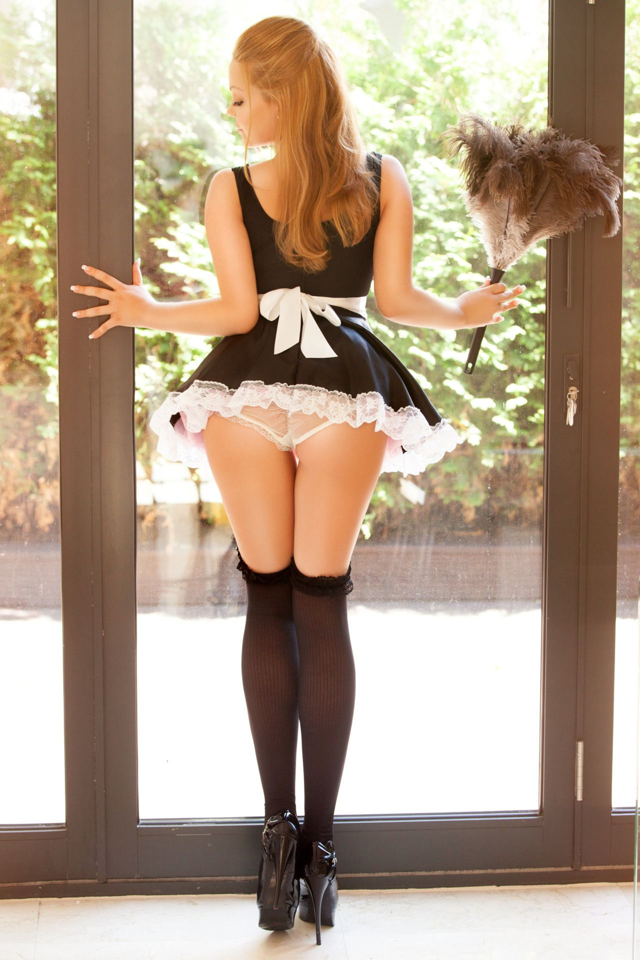 wife submissive French maid