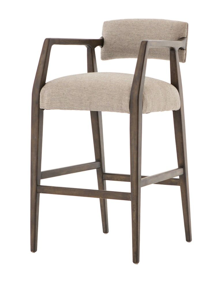 Fabric And Wood Counter Or Bar Stool Contemporary Bar Stools