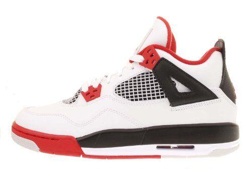 9d4dff1a8c Nike Air Jordan 4 Retro GS Fire Red 2012 Youth Kids White Black AJ4 408452- 110 [US size 7]