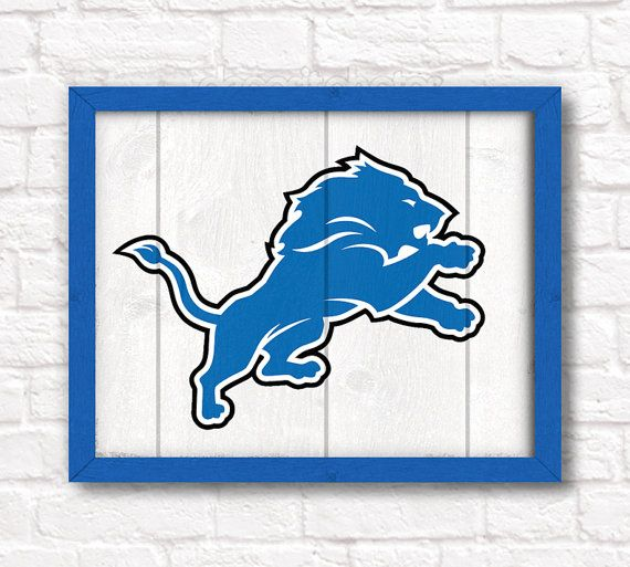 Detroit Lions Home Decor Boys Room Or Man Cave Rustic 16 X20 Handmade Sign Wall On Etsy 55 00