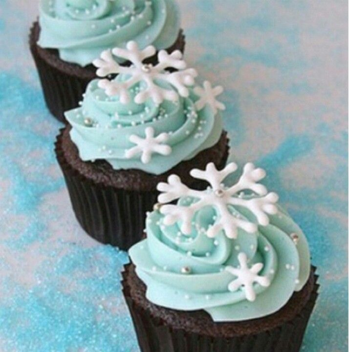 Snowflake cupcakes, the perfect Christmas snack!