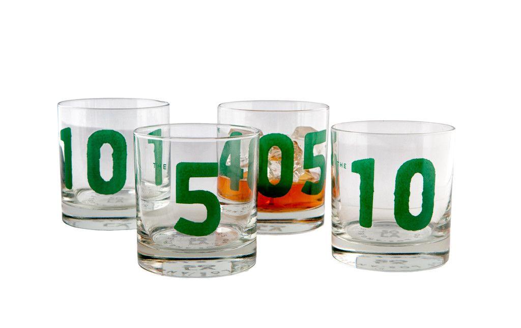 Rocks Glasses Freeway (Set of 4) Rock, Glass and Los angeles - molekulare küche set