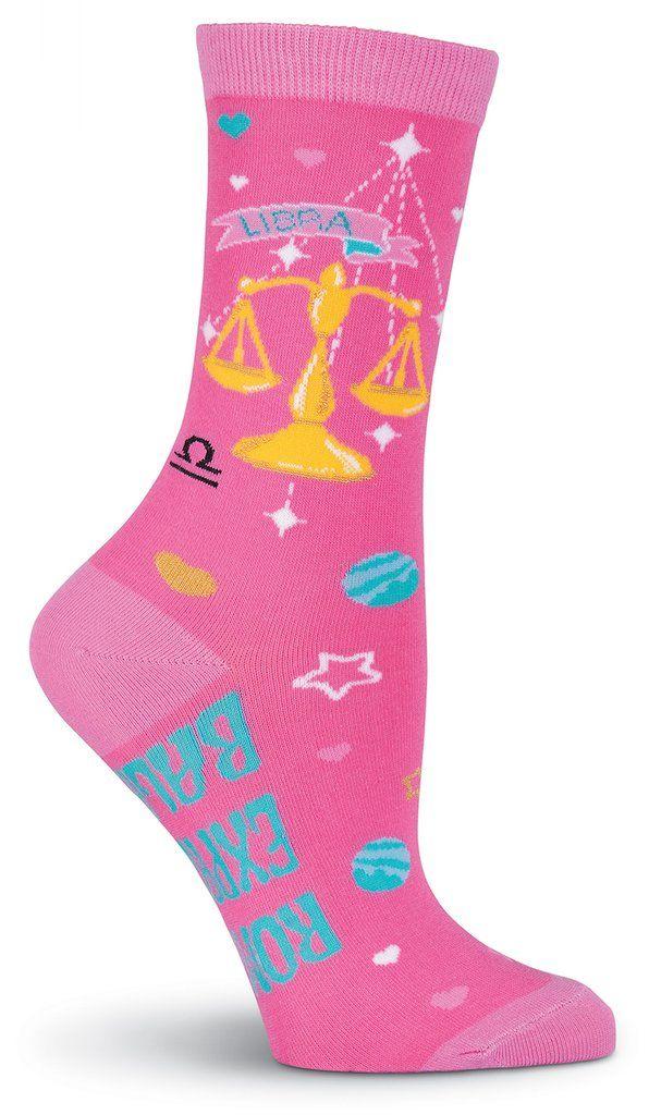 Socksmith Womens Birthday Horoscope Novelty Crew Socks Libra