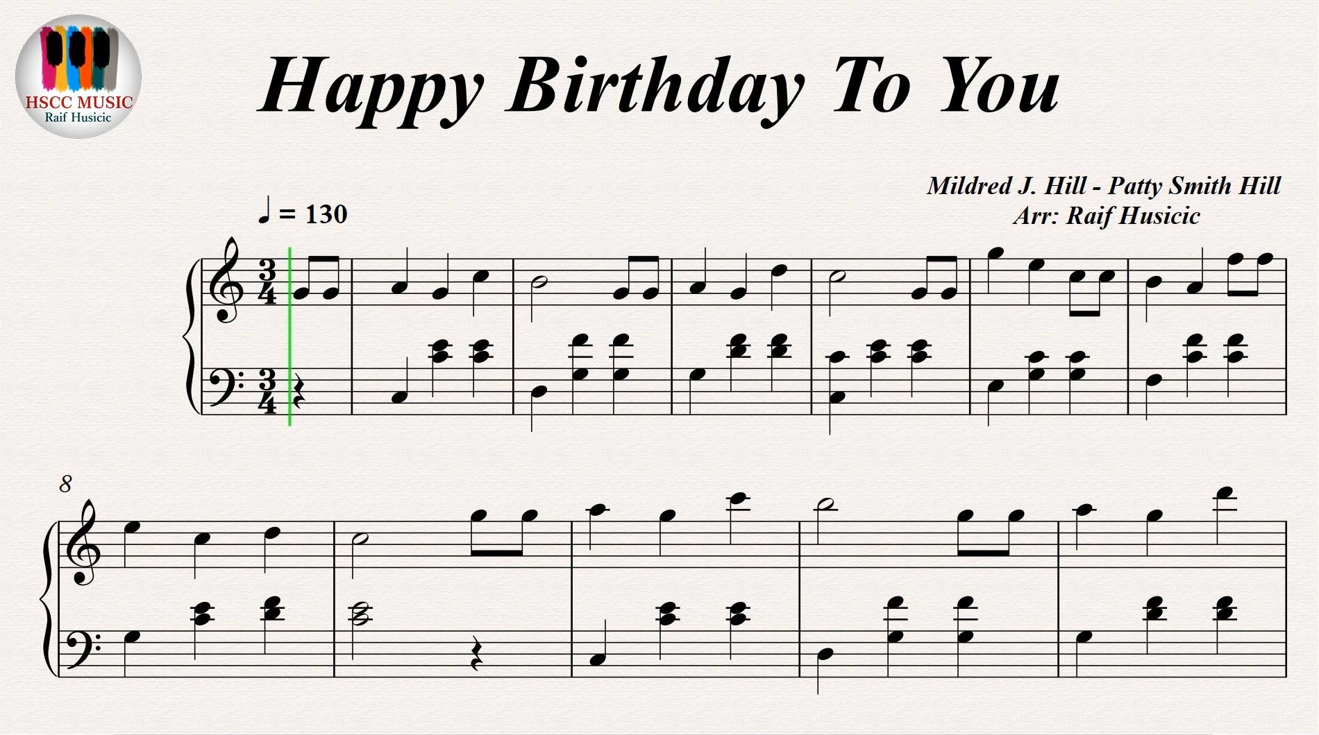 Happy Birthday To You, Piano Songs for teachers, Music
