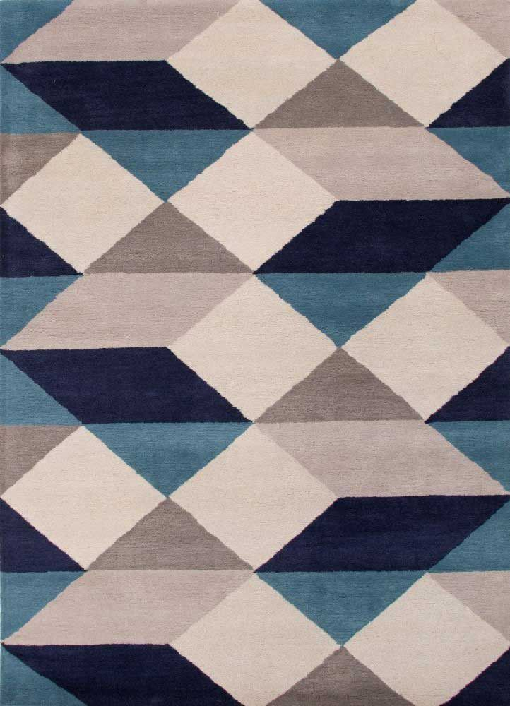 En Casa By Luli Sanchez Tufted Ojo Lst17 Geometric Area Rug Wool Area Rugs Hand Tufted Rugs