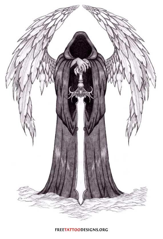 St Michael Tattoo Stencil Angel Tattoos Angel Wings Guardian