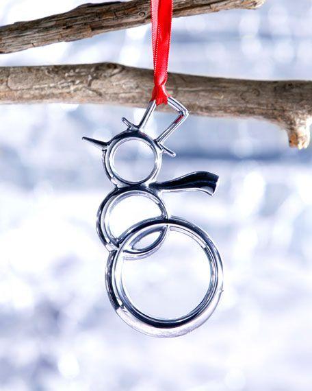 Nambe - Snowman Christmas Ornament