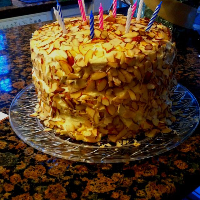 Almond birthday cake. What is up!?!?
