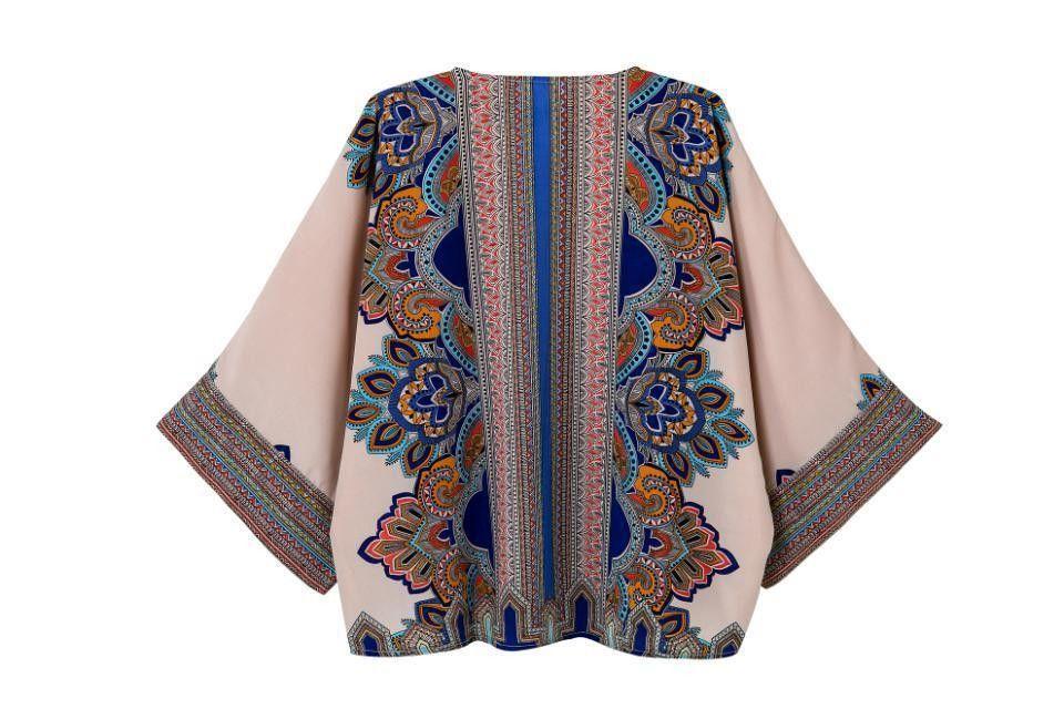 e09d1185d70 2014 patroon vrouwen zomer top design tribal print kimono vest jas europese  streetwear boho poncho