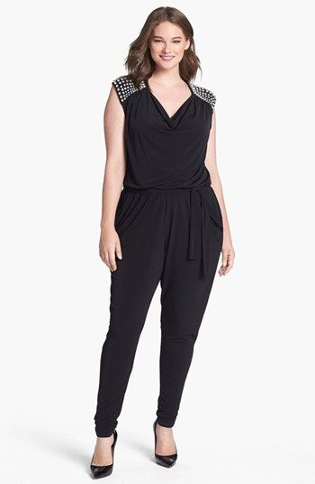 01c42a0a242 MICHAEL Michael Kors Embellished Cowl Neck Jumpsuit (Plus Size) available  at  Nordstrom