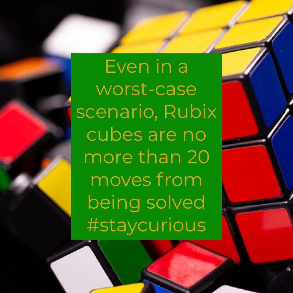 Even In A Worst-case Scenario, Rubix Cubes Are No More