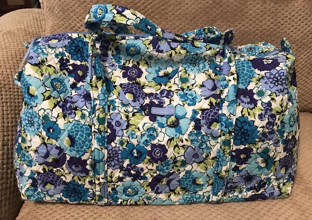 29cc167a20e4 Vera Bradley Large Duffel Bag NWT! Blueberry Blooms Travel Bag Vera Bradley  Large Duffel