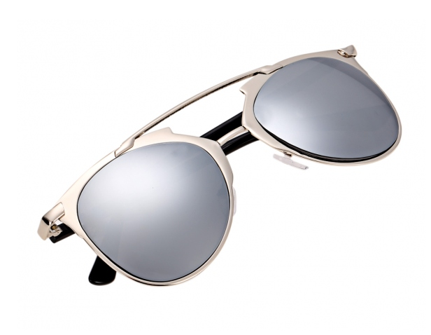 These 'Kylie' Sunglasses in silver are so cute! #sunglasses Apply code SUMMER10 for 10% off! http://ss1.us/a/AUY6PKZ3