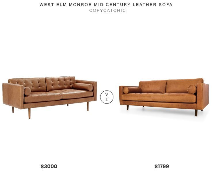 Awesome Daily Find Home Living Leather Sofa Tufted Leather Alphanode Cool Chair Designs And Ideas Alphanodeonline