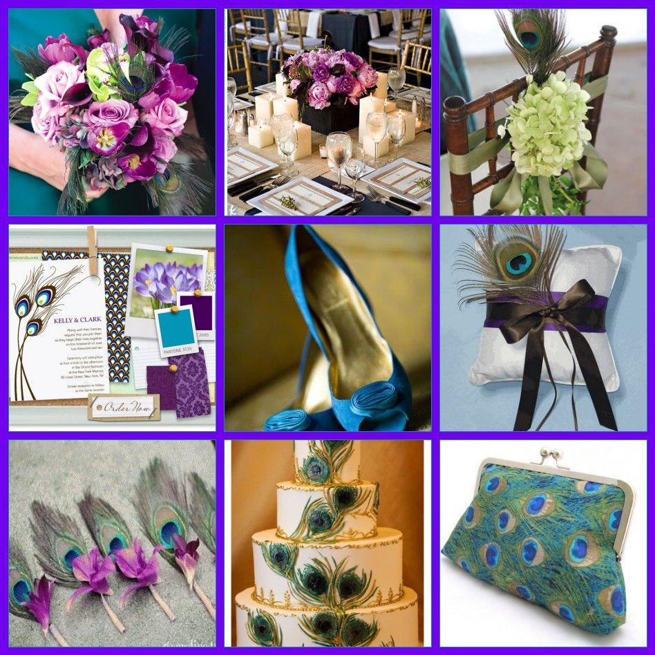 Purple Peacock Wedding Ideas