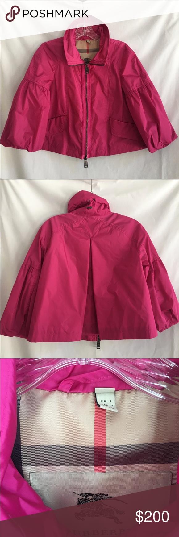 393c2ac33b7 Burberry Pink Cropped Rain ☔️ Jacket in 2018   My Posh Closet ...