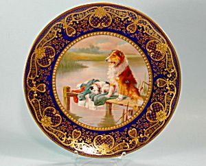 Early Paragon Plate HP Colllie Dog Cobalt Raised Gold & Early Paragon Plate HP Colllie Dog Cobalt Raised Gold | Decorative ...