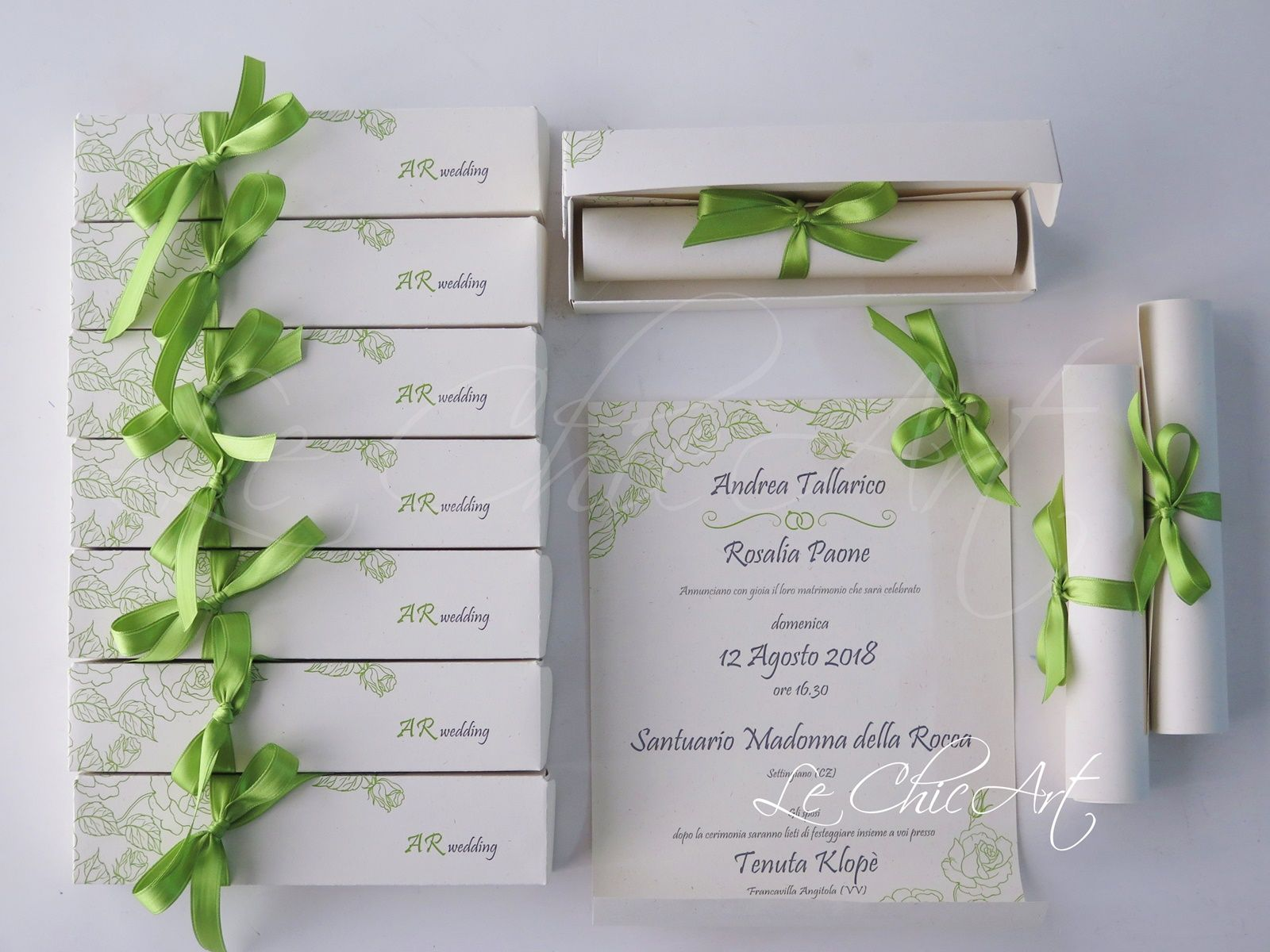 Partecipazione Matrimonio Tema Rose Colore Verde Pistacchio Matrimonio Matrimonio Personalizzato Matrimonio Minimalista