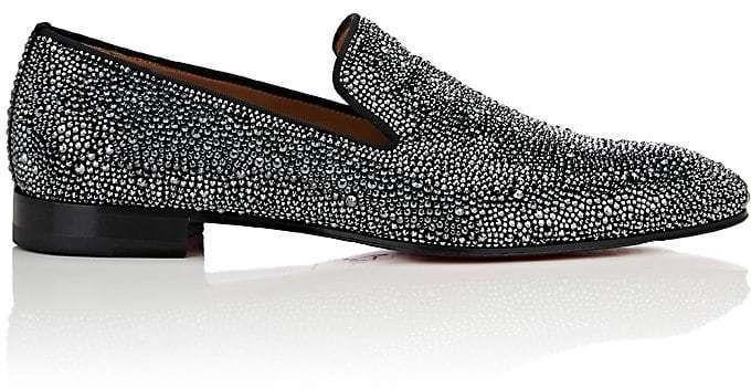 8c7160a4ba5 The Best Men s Shoes And Footwear   Christian Louboutin Men s Dandelion  Strass Flat Suede Venetian Loafers