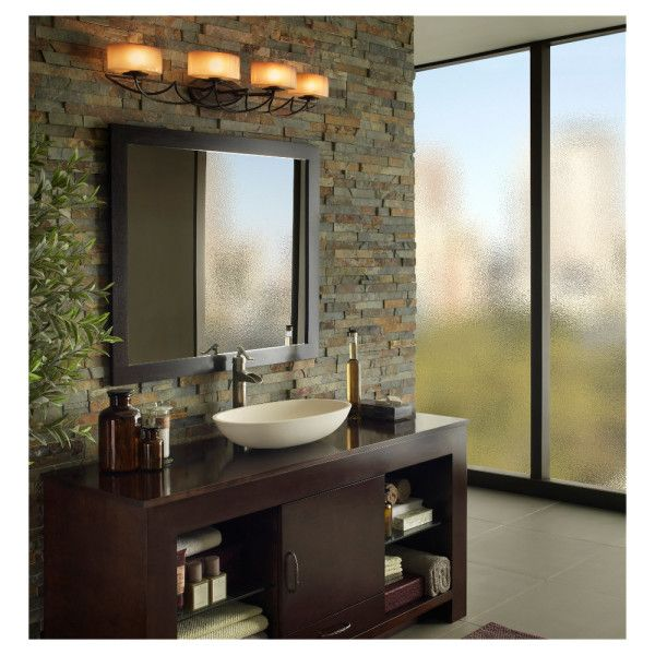 Decoration enchanting vintage style bathroom vanity lights using decoration enchanting vintage style bathroom vanity lights using wrought iron sconces mounted on stacked stone wall tile with framed square mirror aloadofball Images
