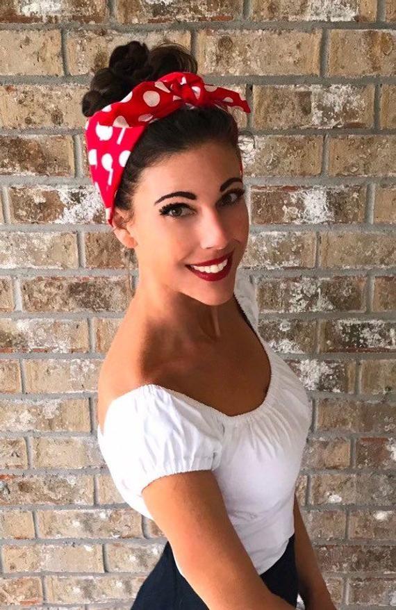 Extra Wide Miranda Retro Hair Wrap Head Scarf Self Tie | Etsy