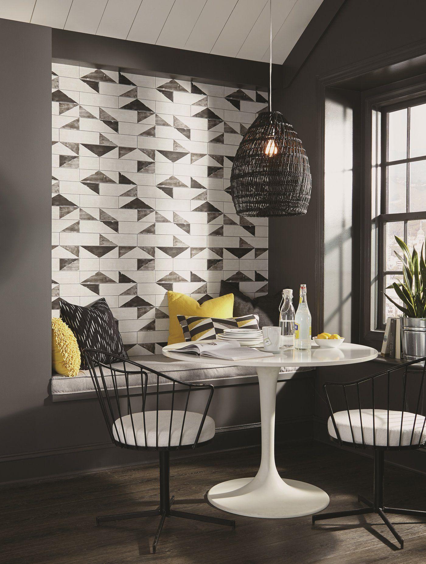 Best York Underground Embossed Black Gray Brick Wallpaper 400 x 300