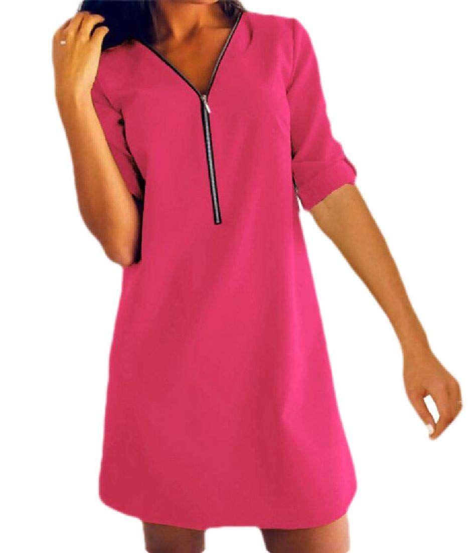 Hajotrawa Womens V-Neck Glitter Backless Spaghetti Strap Party Maxi Dress