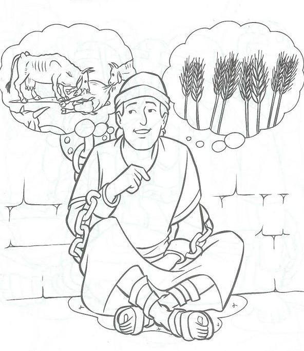 God giving Joseph the interpretation of Pharaoh's dreams