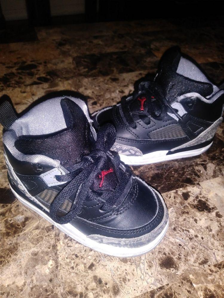 fa14f9f2dc606b Nike Air Jordan Spizike kids toddler size 6c black cement grey red 317701-