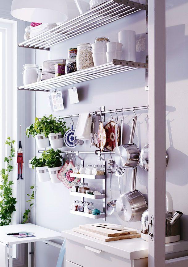 Greens  Küche  Kitchen  Pinterest  Kitchen Shelves Small Pleasing Kitchen Wall Storage Design Ideas